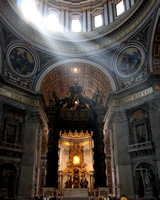St. Peters Cathedral- Light shining down.
