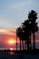 Venice Beach Fire sunset. Thanks Heidi!